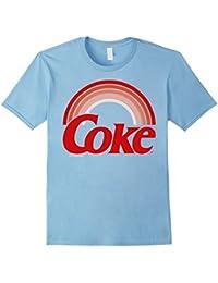 Retro Sunset Rainbow Coke Graphic T-Shirt