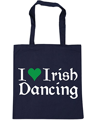 I Bag Beach Love 42cm Tote HippoWarehouse x38cm Irish Shopping Dancing litres Navy French Gym 10 dwxZ8x