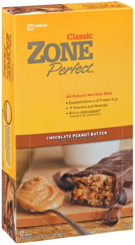 ZonePerfect All Natural Nutrition Bar, Chocolate Peanut Butter, 1.76-Ounce Bars in 12-Count Boxes (Pack of 2) For Sale