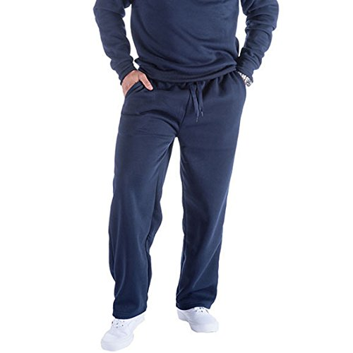 Mens Old Navy Joggers Pants Active Athletic Basic Fleece Sweatpants Long Workout Sweat Running Wear XXL, Navy