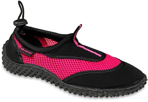 Gwinner Damen Wasserschuhe Surfschuhe Aquaschuhe, schwarz/pink, 40