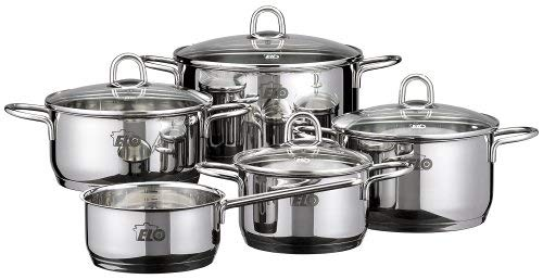 Elo 90160 Rubin Stainless Steel Cookware Set, 9-Piece