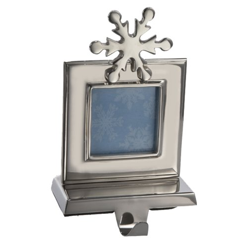 Holder Photo Frame Stocking - Kurt Adler 8-Inch Photo Frame Stocking Holder, Shiny Silver