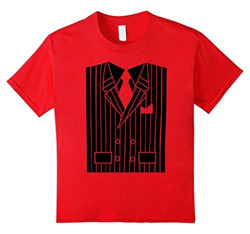 Bootlegger Costumes (Kids Halloween Gangster Bootlegger Costume T-Shirt 8 Red)