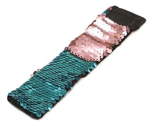 Sparklee Me Mermaid Sequin Color Changing Reversible Bracelet/New Color For 2018 Elegant Adjustable Wristband (Salmon/Aqua (Mini Me Costume Pattern)
