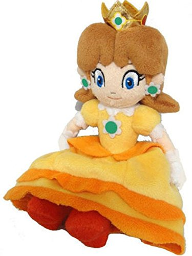 [Super Mario Bros Series 8in Princess Daisy Stuffed Plush Toy Doll] (Dry Bowser Costume)