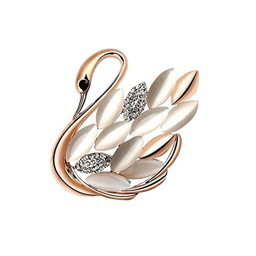 OLINASE Vintage Brooch Pins Crystal Rhinestone Swan Dolphin Animal Scarves Shawl Clip for Women Girls Ladies