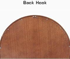 Amazon.com: Espejo redondo grande de madera retro para ...
