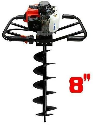 [해외]New tools 3HP 63cc EPA Gas Earth 2 Man Post Hole Digger 2 Person Machine + 8 Auger Bit / New tools 3HP 63cc EPA Gas Earth 2 Man Post Hole Digger 2 Person Machine + 8 Auger Bit