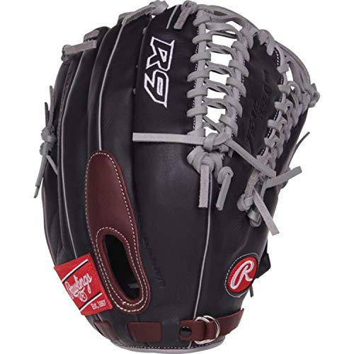 Rawlings R9 Baseball Glove, Black, -