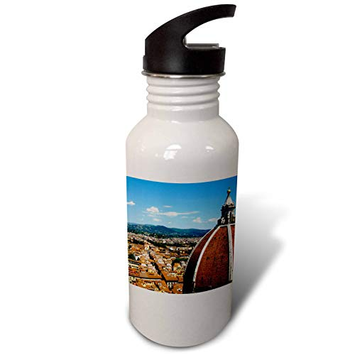 3dRose Elysium Photography - Cityscape - Aerial view of Florence, Italy - Flip Straw 21oz Water Bottle (wb_289637_2) by 3dRose