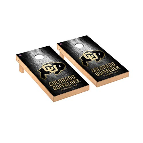 Victory Tailgate Regulation Collegiate NCAA Museum Series Cornhole Board Set - 2 Boards, 8 Bags - Colorado Buffaloes