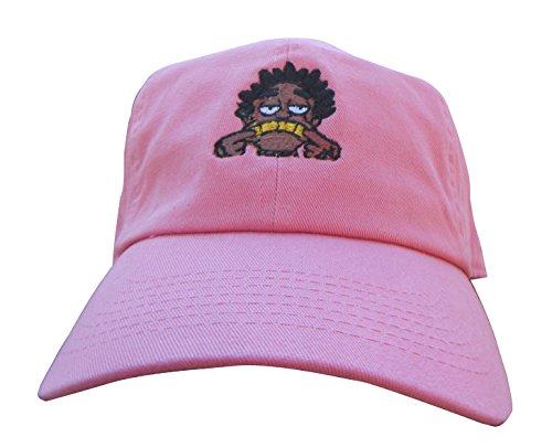 cartoon-free-kodak-custom-emoji-meme-unstructured-twill-cotton-low-profile-dad-hat-cap-salmon-pink