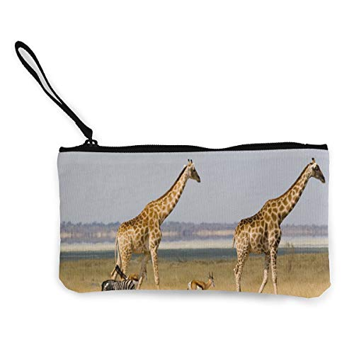 Canvas Coin Purse Giraffe...