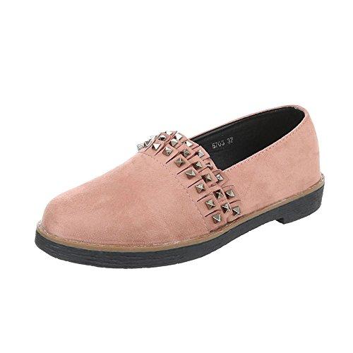 Women's Loafer Flats Block Heel Slippers at Ital-Design Altrosa RorD92TUU