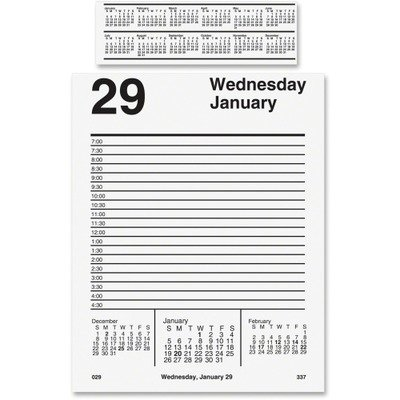 AT-A-GLANCE E45850 Pad Style Desk Calendar Refill, 5 x 8, 2016