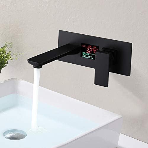 壁には、ディスプレイの温度と時間への関数とバスルームのシンク洗面蛇口商業シングルハンドルランドリーバニティ蛇口をマウント
