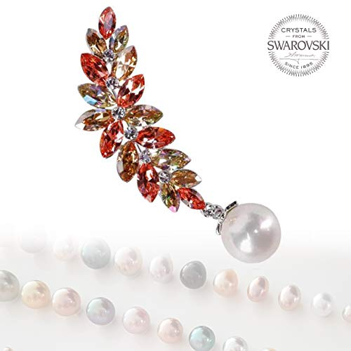 Jan Creation Crystals from Swarovski - Greatest Fashion Womens Jewelry Brooch Silver Plated Pins for Mom or Wife Valentine Day Birthday Jewelry Gift for Her - 0015
