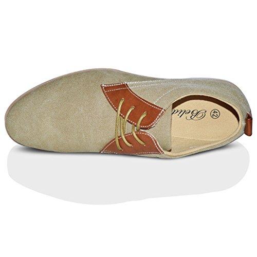 Xelay - zapatilla baja hombre Beige Pointed Toe