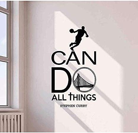 Wc Asdcc Stephen Curry Sticker Mural Je Peux Faire Tout Citer Sport Gym Dictons Basketball Vinyle Autocollant Décor Affiche Art Mural Imprimer J003