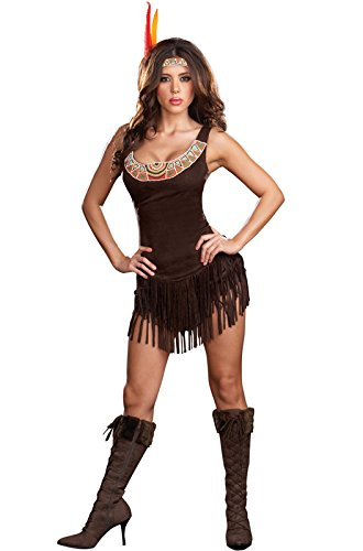 Dreamgirl Women's Native Indian Princess Costume,Brown/Multi, Medium