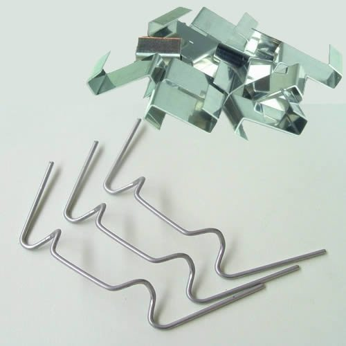 100 Pack of Greenhouse Glass Pane Fixing Clips – Includes 50 x Galvanised W Clips & 50 x Stainless Steel Overlap Z Clips Heswall Glass