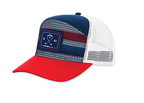 Callaway Golf 2019 6 Panel Trucker Hat, Navy/Red/White (Best Golf Caps 2019)
