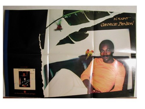 George Benson Promo Poster in flight for sale  Delivered anywhere in USA