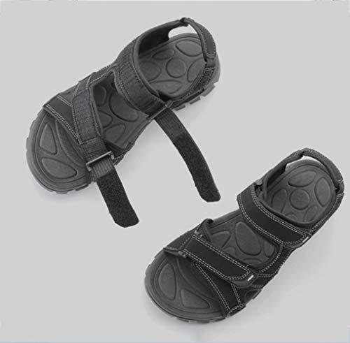 libero da in maschile marea spiaggia morbido uomo per Nero fondo scarpe e fresca pelle Sport scarpe tempo aperta da in all'aria estate il pantofole WFL pelle sandali sandali e Fpq0RxPw7