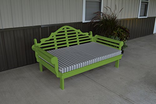 75 Inch Pine Indoor or Outdoor Marlboro Daybed Amish Made- Lime Green Paint (Amish Daybed)