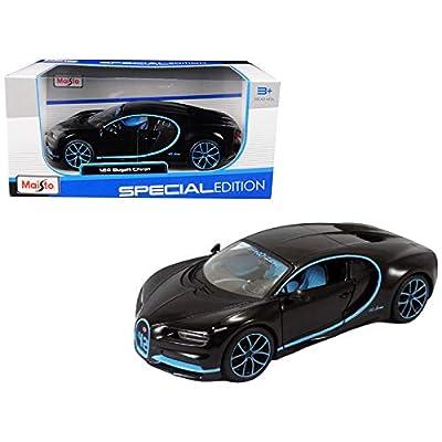 StarSun Depot Bugatti Chiron 42 Black Limited Edition 1/24 Diecast Model Car Maisto: Home & Kitchen