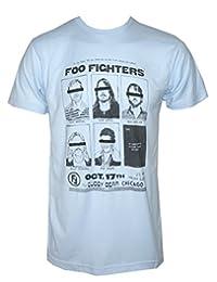 FOO FIGHTERS Cubby Bear Chicago T-Shirt Light Blue M