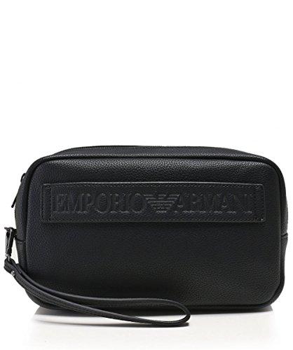 Emporio Armani Men's Maxi Logo Wash Bag Black One Size by Emporio Armani