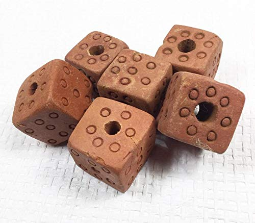 Perfect and Stunning Beads - Jumbo Tribal Red Clay Beads, Vintage Hand Made Organic Beads, Macrame Beads, Chunky Jewelry Beads, Jewelry and Craft Supplies