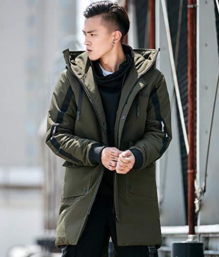 Uomo Armygreen xxl amp;jy Con xxl X Ispessimento Da Nero Invernale M Lungo Cappotto Casual Militare Cotone Giacca armygreen Moda Cappuccio Tratto verde A Di qgwBdwt