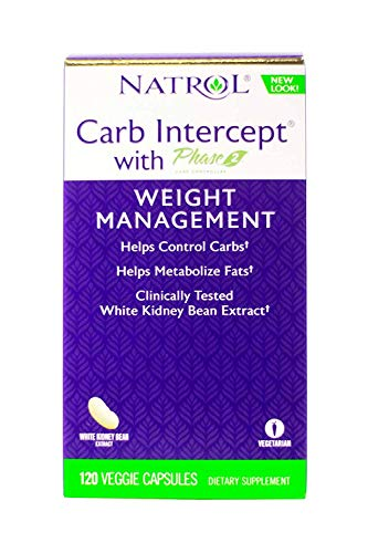 - Natrol Carb Intercept with Phase 2 Starch Neutralizer, 120 Capsules (Pack of 2)