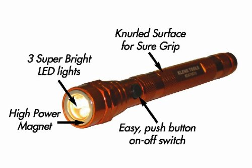 Klenk DA76570 Telescoping lighted magnetic pickup tool, flashlight, extends to 20