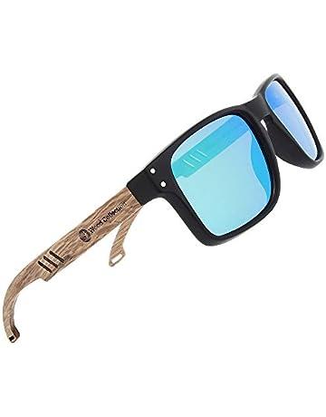 6bfa6ce5eb93 SKADINO Wood Sunglasses Polarized For Men&Women Brown Mirror Wood Sunglasses