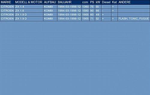 pour ZX 1.4 1.6 1.9 D FAMILIARE 75//90//60//71hp 1994-1998 ETS-EXHAUST 50223 Silenziatore marmitta Posteriore kit di montaggio