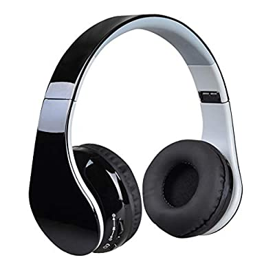 COOLEAD Bluetooth Cuffie Stereo Senza Fili Cuffie con Microfono Riduzione del Rumore Over Ear Cuffie Pieghevoli Auricolari On Ear Cuffia per Bambini Donna Uomo iPhone iPad iPod Computer TV PC Tablet
