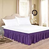Biscaynebay Wrap Around Bed Skirts for Queen Beds