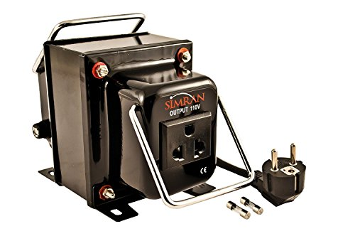 Simran THG-2000T Step Up & Down Voltage Transformer Converter for 110V & 220/240V 2000W - Converting 2 Prong Outlet 3 Prong