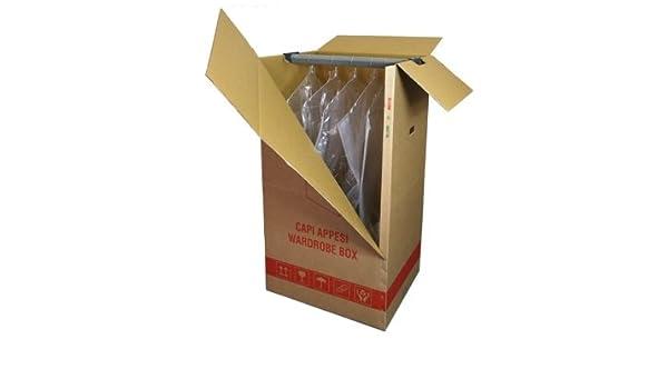 SIMBA Kit 2 Cajas cartón Puerta Vestidos CAPI Appesi cm. 50 ...