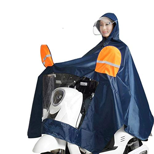 Coche Modernas Libre Color Prueba A De Eléctrico Motocicleta Grueso Lluvia 6 Doble Aire Sólido Impermeable Sombrero Moda Poncho FHXwtq