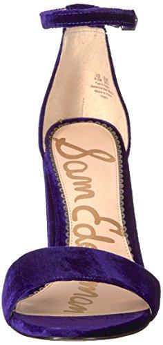 Sam Edelman Purple Women's Sandal Yaro Iris Heeled Velvet rrPAWqf7