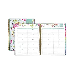 "Day Designer for Blue Sky 2018 Weekly & Monthly Planner, Twin-Wire Binding, 8.5"" x 11"", Peyton White"