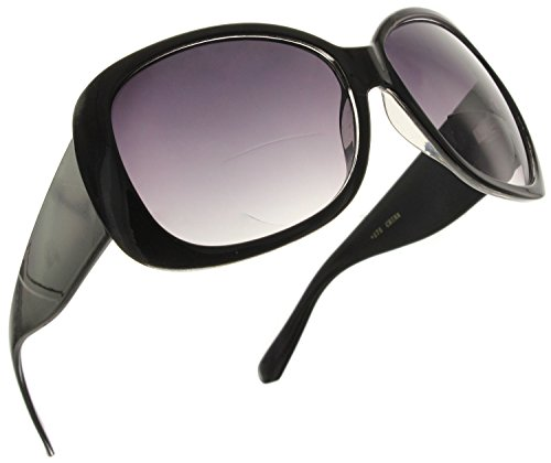 Fiore Jackie O Bifocal Reading Sunglasses Readers Black 2.50