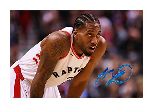 (Engravia Digital Kawhi Leonard (1) NBA Toronto Raptors Reproduction Autograph Photograph Picture Poster Photo A4 Print (unframed) )