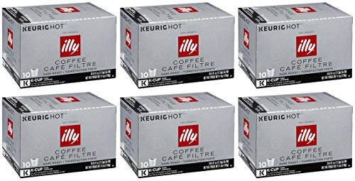 illy K-Cup Pods, Dark Roast, 60 Count (Ally Coffee)