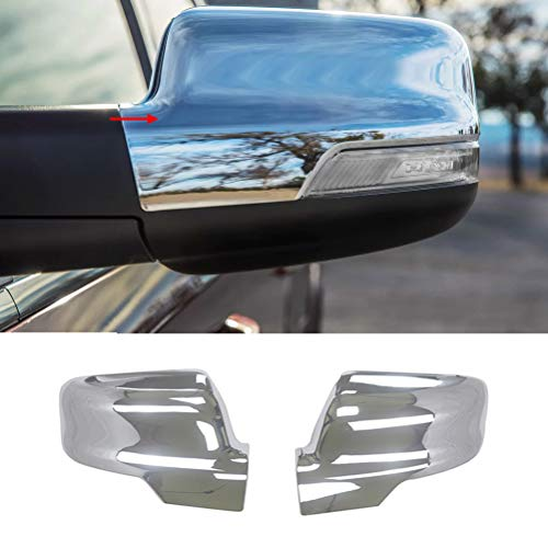 NINTE Mirror Cover for 2019 2020 Dodge Ram 1500, ABS Chrome Side Mirror Covers W/Turn Signal Cut-Outs